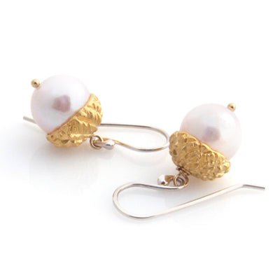 Acorn Earrings - Gold by Louise Douglas - Rata Jewellery