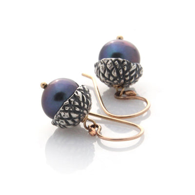 Acorn Earrings - Silver by Louise Douglas - Rata Jewellery