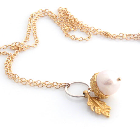 Acorn Necklace - Gold by Louise Douglas - Rata Jewellery