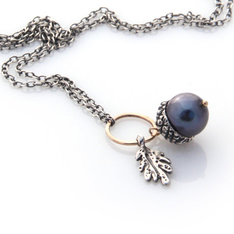 Acorn Necklace - Silver