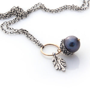 Acorn Necklace - Silver by Louise Douglas - Rata Jewellery