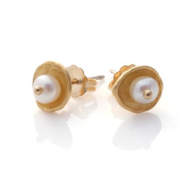 Caviar Studs - Gold by Louise Douglas - Rata Jewellery