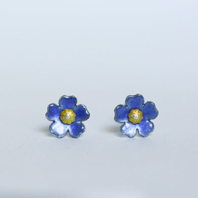 Chatham Island Forget me Not Studs by Adele Stewart - Rata Jewellery