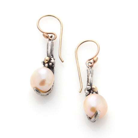 Floral Pearl Earrings by Louise Douglas - Rata Jewellery
