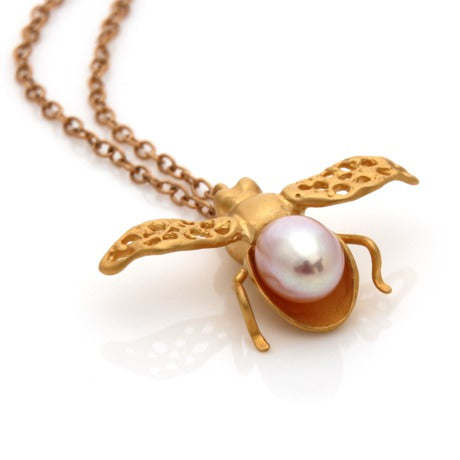 Honey Bee - Gold by Louise Douglas - Rata Jewellery