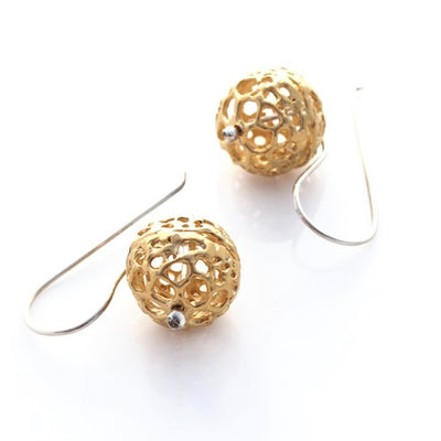 Sea Lace Earrings - Gold by Louise Douglas - Rata Jewellery