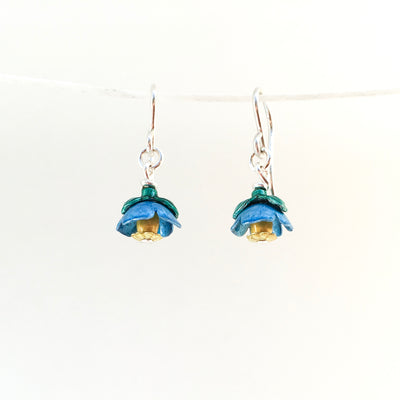 Himalayan Poppy Drop Earrings by Adele Stewart - Rata Jewellery