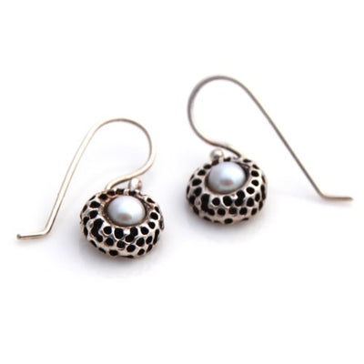Kina Drop Earrings - Silver by Louise Douglas - Rata Jewellery