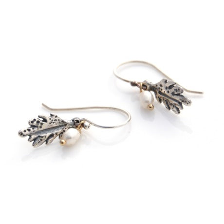 Leaf Earrings - Silver by Louise Douglas - Rata Jewellery