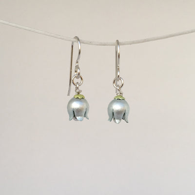 Lily of the Valley Drop Earrings by Adele Stewart - Rata Jewellery