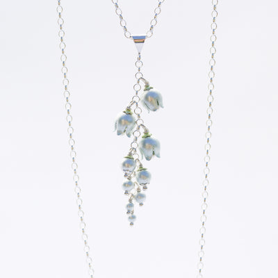 Lily of the Valley Cluster Necklace by Adele Stewart - Rata Jewellery
