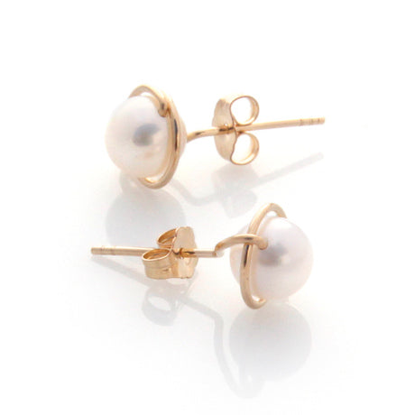 Lulu Studs - Gold by Louise Douglas - Rata Jewellery