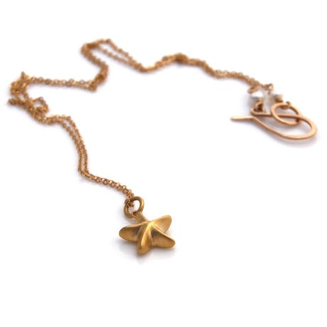 Mini Starfish Necklace - Gold by Louise Douglas - Rata Jewellery