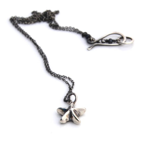 Mini Starfish Necklace - Silver by Louise Douglas - Rata Jewellery