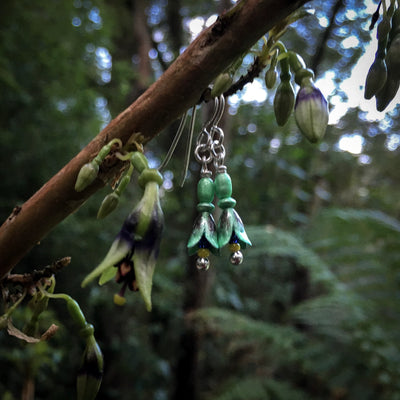 NZ Tree Fuchsia Earrings - Kotukutuku by Adele Stewart - Rata Jewellery