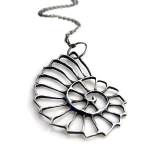 Nautilus Necklace - Silver by Louise Douglas - Rata Jewellery