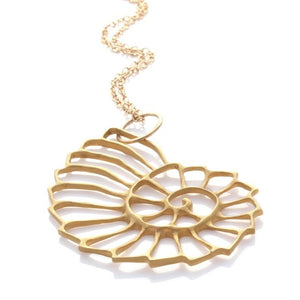 Nautilus Necklace - Gold by Louise Douglas - Rata Jewellery