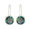 Spiral Drop Earrings - Paua by Stone Arrow - Rata Jewellery