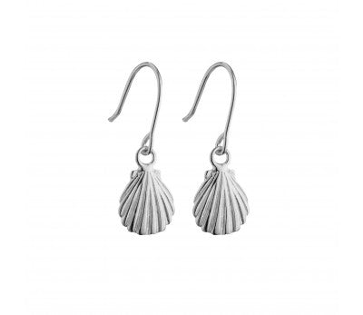 Seashell Earrings - Silver