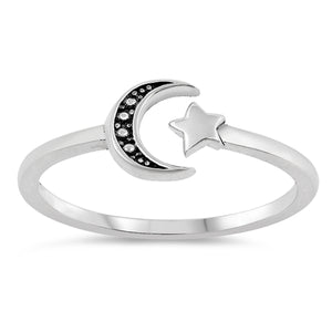 Star & Moon Ring by Rata Jewellery - Rata Jewellery