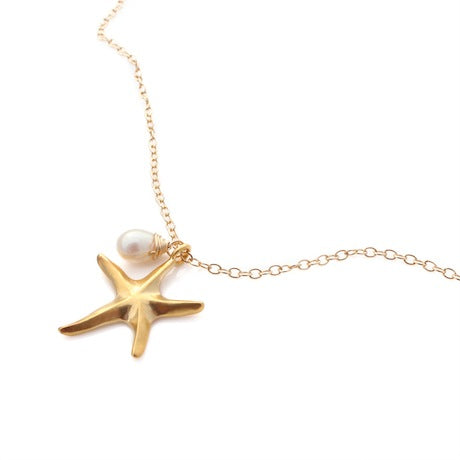 Starfish Necklace - Gold by Louise Douglas - Rata Jewellery