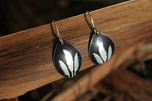 Toi Toi Earrings - Black by Jill Main - Rata Jewellery