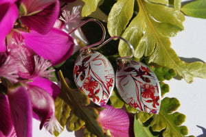 Wahine Earrings - Red by Jill Main - Rata Jewellery