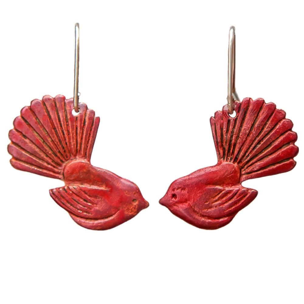 Fantail Earrings - Copper