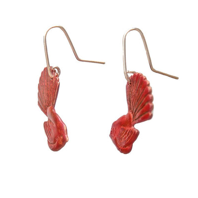Fantail Earrings - Copper by Stone Arrow - Rata Jewellery