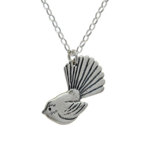 Fantail Necklace - Silver by Stone Arrow - Rata Jewellery