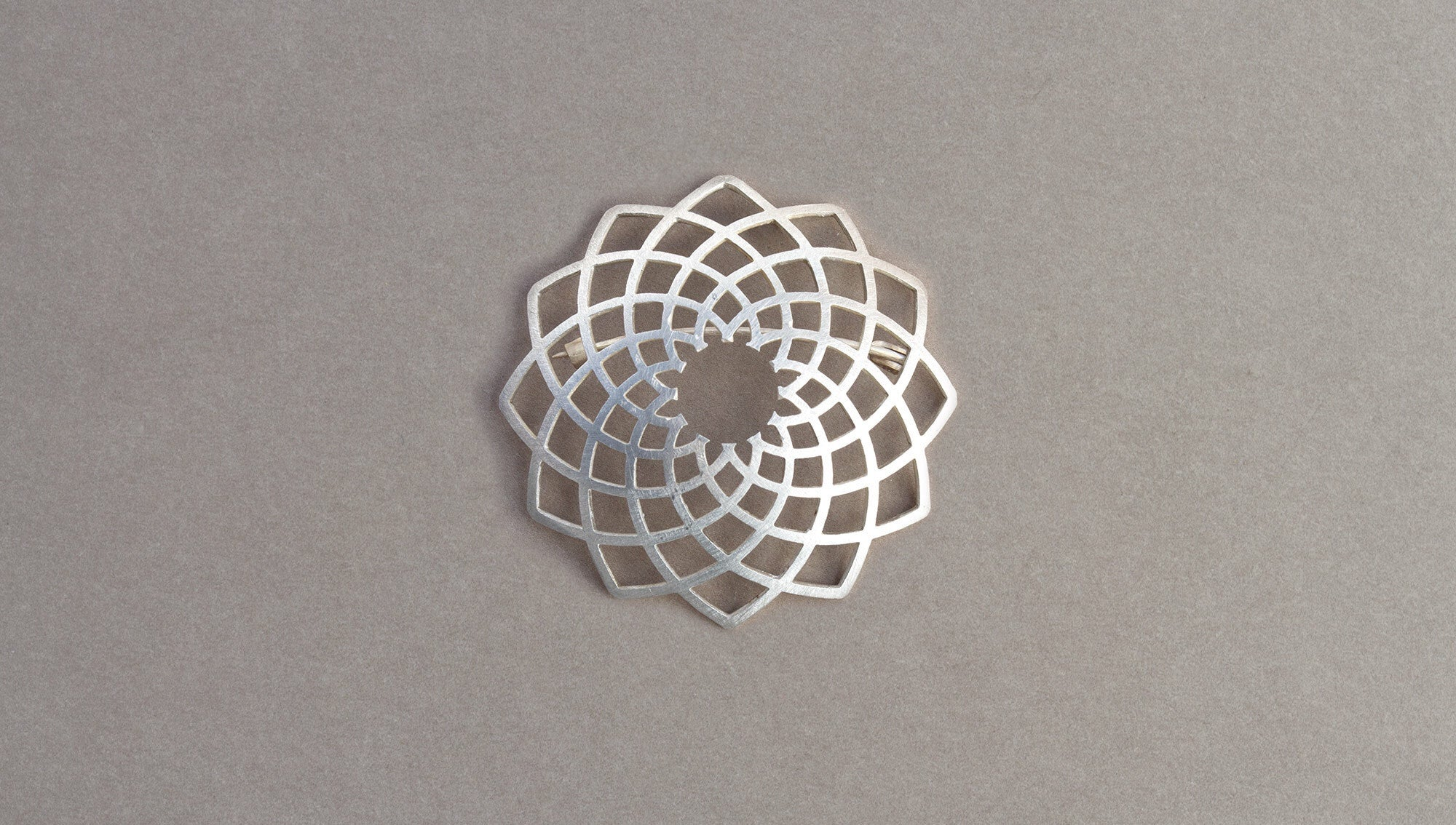 Flax Brooch by David Trubridge - Rata Jewellery