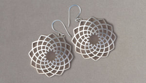 Flax Earrings by David Trubridge - Rata Jewellery