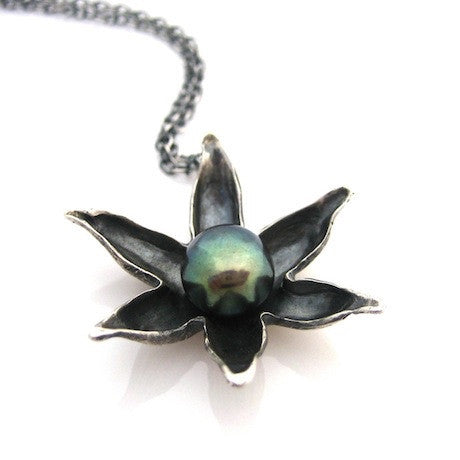 Floating Lotus Necklace by Louise Douglas - Rata Jewellery