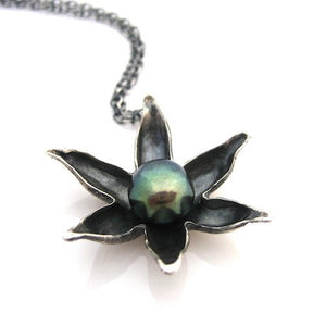 Lotus Flower Necklace - Silver by Louise Douglas - Rata Jewellery