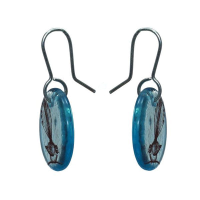 Glass Fantail Earrings by Stone Arrow - Rata Jewellery