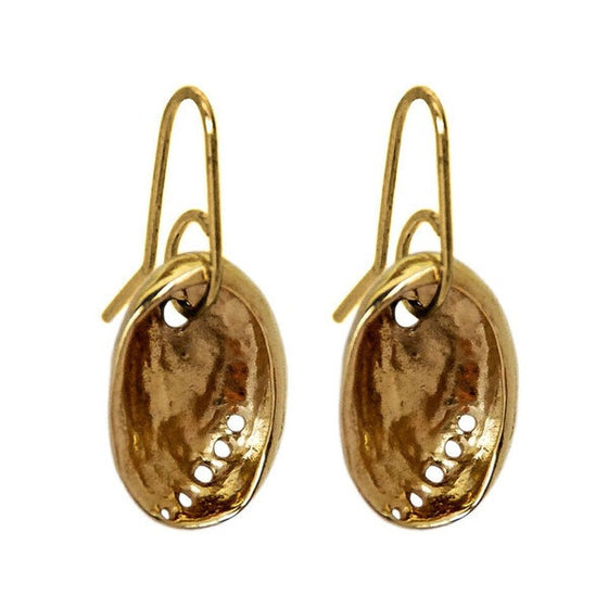 Gold Baby Paua Earrings by Stone Arrow - Rata Jewellery
