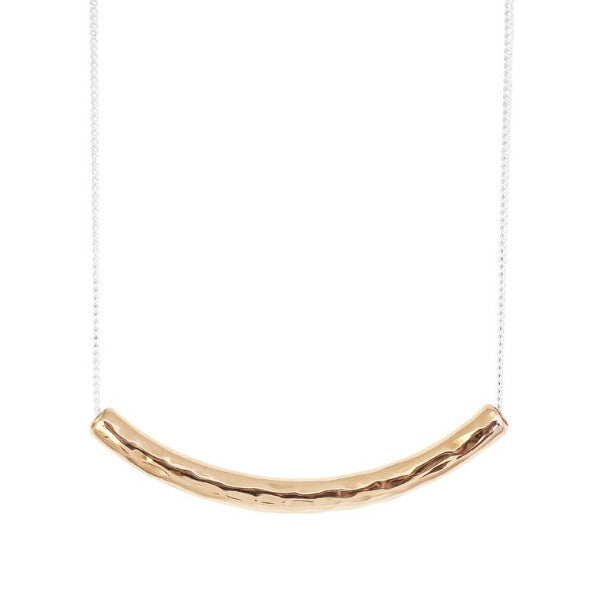 Husk Hammered Bar Necklace