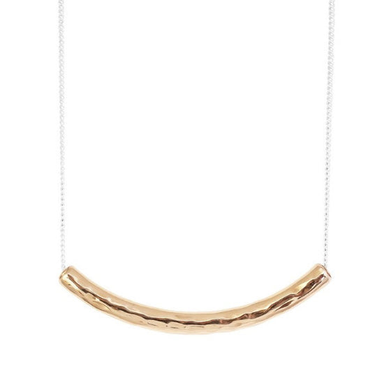 Husk Hammered Bar Necklace by Rock Finders Keepers - Rata Jewellery