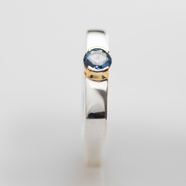 Sapphire Ring set in Gold by Workshop 41 - Rata Jewellery