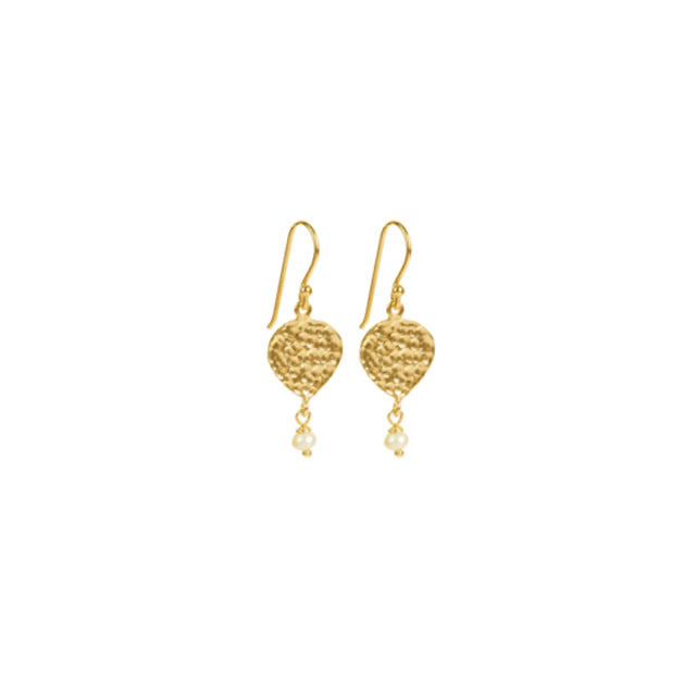 Maya Earrings - Gold & Pearl