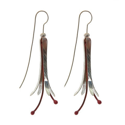Blossom Earrings - Long by Stone Arrow - Rata Jewellery