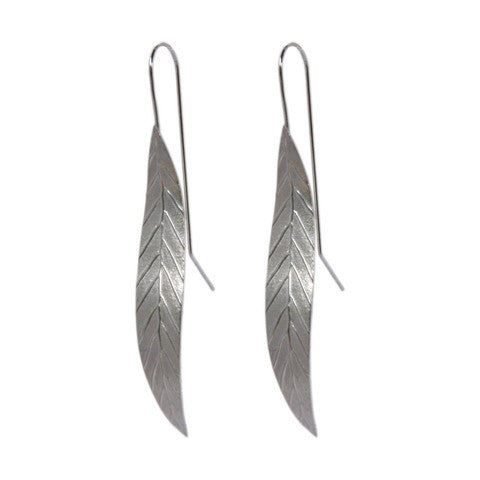 Long Leaf Earrings by Stone Arrow - Rata Jewellery