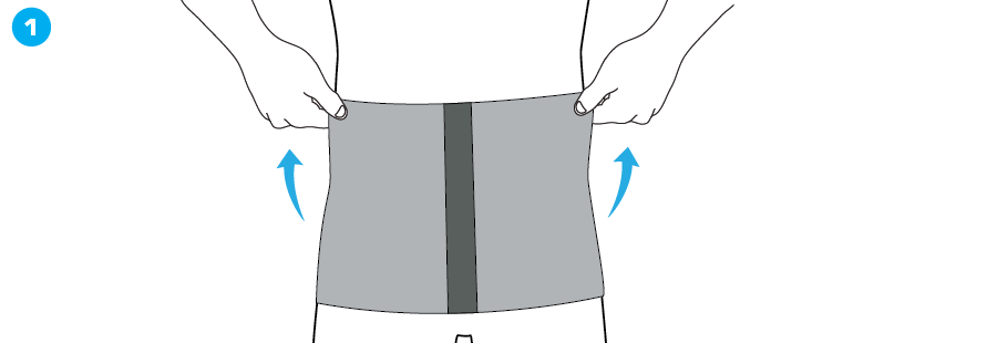 How To Apply - 114 Angora Waist/Back Support