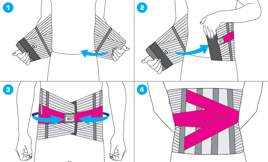 How To Apply - 131 Lumbosacral Support/Brace