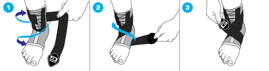 How To Apply - 164 Stabilized Ankle Support