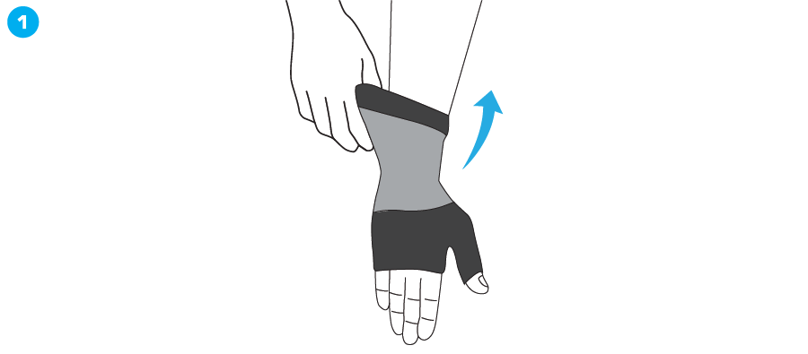 How To Apply - 722 Airflow Wrist and Thumb Support