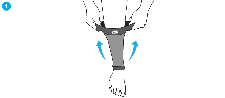 How To Apply - 723 Airflow Calf Shin Support