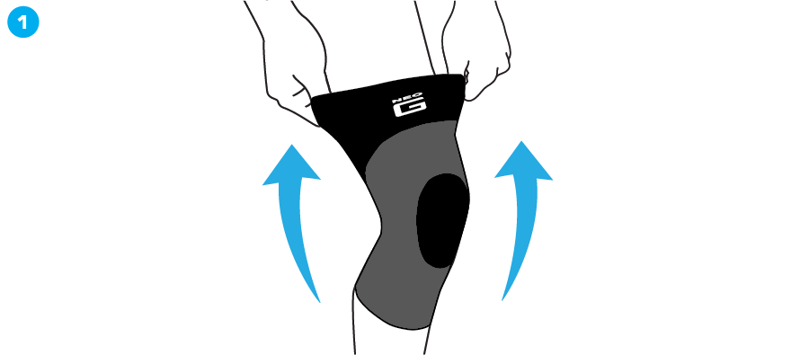 How To Apply - 725 Airflow Knee Support