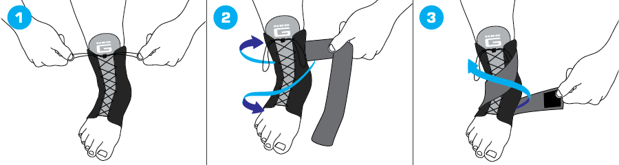 How To Apply - 854 Laced Ankle Support
