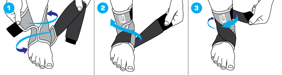 How To Apply - 887 Ankle Support with Figure of 8 Strap